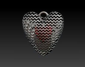 Hidden Heart Pendant 3D print model