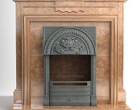 Fireplace 3D model fire