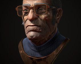 3D asset Old man portrait