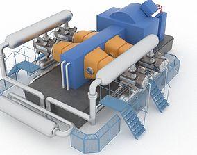3D asset Indoor gas compressor