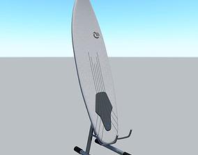 3D model powered surfboard