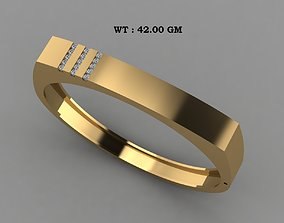 Male Solid Bracelet 3D print model
