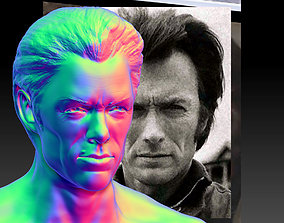 Clint Eastwood Model Bust for 3d Print