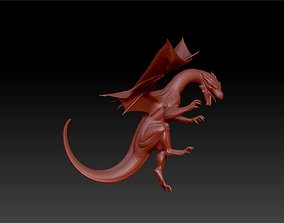 dragon fantasy figurines statue 3D printable model