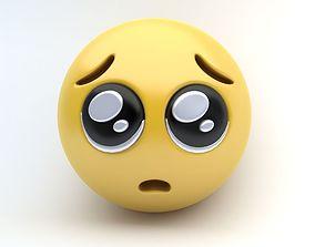 EMOJI Pleading Eyes 3D model