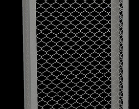 Metal Grid Structure 3D asset