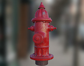 flame 3D asset game-ready PBR Fire Hydrant