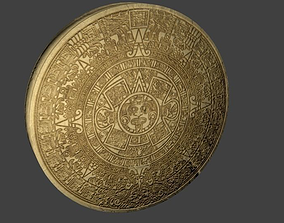 Game-Ready Ancient Mayan Calendar 3D asset