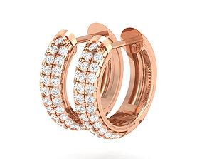 wedding jewelry Women Earrings 3dm stl render detail