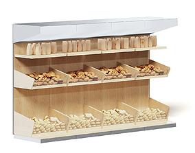 Market Shelf 3D Model - Buns