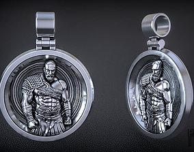 Kratos pendant God of War 3d printing and CNC