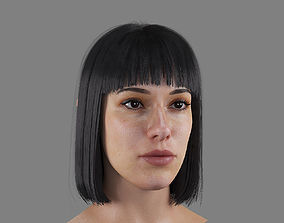 Realistic Woman Head with two Hairstyles 3D