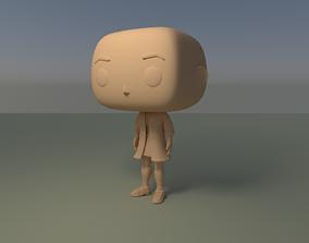 Custom Pop Girl Dressed No Hair DIY Figure 3D Print Model