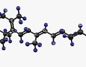 Vitamin A-Molecular model