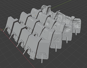 Concrete trenches for wargame 3D printable model