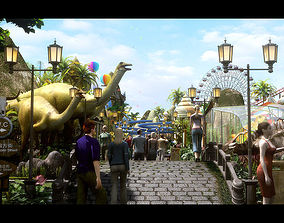 3D model Amusement Park 07