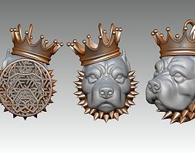 King Pitbull pendant without stone 3D print model
