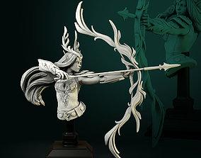 3D printable model Niel Elven Queen bust pre-supported