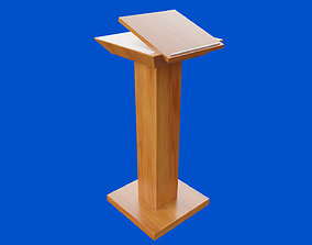 Straight Pulpit 3D model