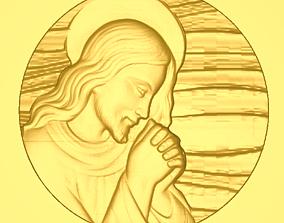 3D print model Jesus christ in circle