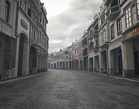 arcade streets shophouse Building 3D model