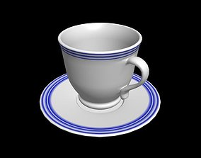 espresso 3D model realtime coffee cup