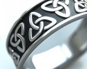 Celtic Ring Triquetra 3D print model