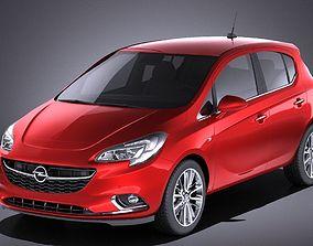 Opel Corsa 5-door 2017 VRAY 3D
