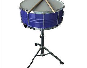 3D model drummer Snare Drum