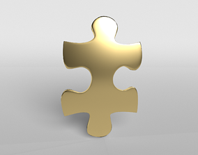 3D asset Jigsaw Symbol v1 009