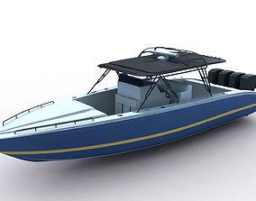 traffic 3D model Midnight Express Powerboat