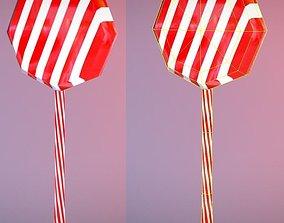Low Poly Lolly Pop 3D asset
