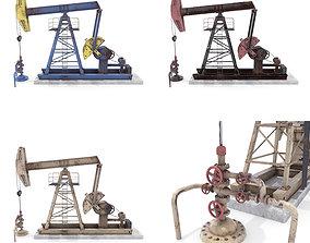 3D model Oil Pumpjack Weathered Pack