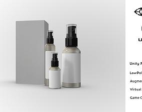 3D asset Cosmetic Spray Bottle Kit Mockup Realistic Low 3