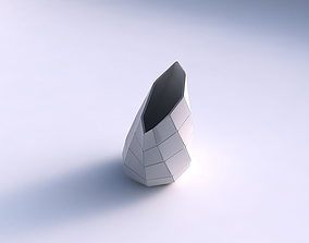 Vase Flame twisted with large plates 3D printable model
