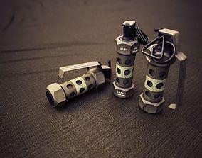 M84 Stun grenade Flashbang 3D model