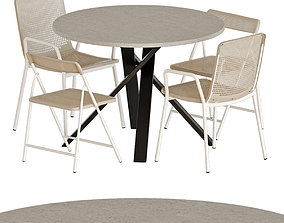 IKEA TORPARO chairs and MARIEDAMM table 3D