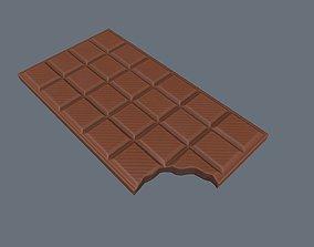 3D asset realtime Bitten Chocolate Bar
