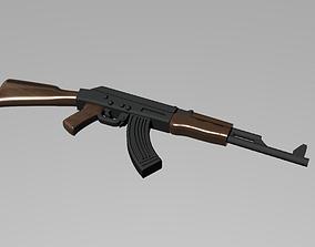 3D printable model AK-47 assault rifle