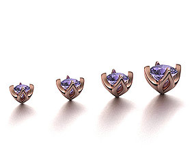 A Package of 4 Ring Heads PACK16 printable 3dmodels