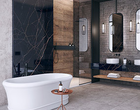 3D Bathroom Noir Laurent scene FLAVIKER CATALOG