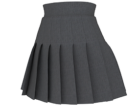 3D asset knife-pleated skirt