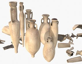 Amphora - Sand Terracotta 3D model