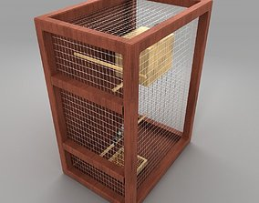 bird cage 3D model zebra