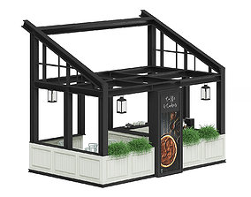 shopping Coffee Kiosk 3D Model