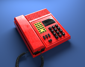 Telephone Push Button AT Retro Money Heist 1980 3D