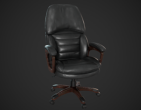 3D asset Leather Office Chair Realtime