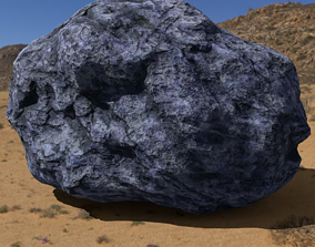 3D asset Hand Sculpted Alien Low Poly Rock CLiff - PBR 2
