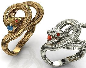 3D printable model snake fashion ring stl files