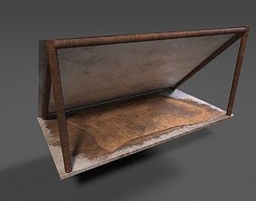 3D asset Snowy Wooden Tent
